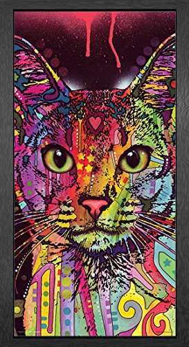 Dean Russo Cat Whiskers Modern Animal Decorative Art Poster