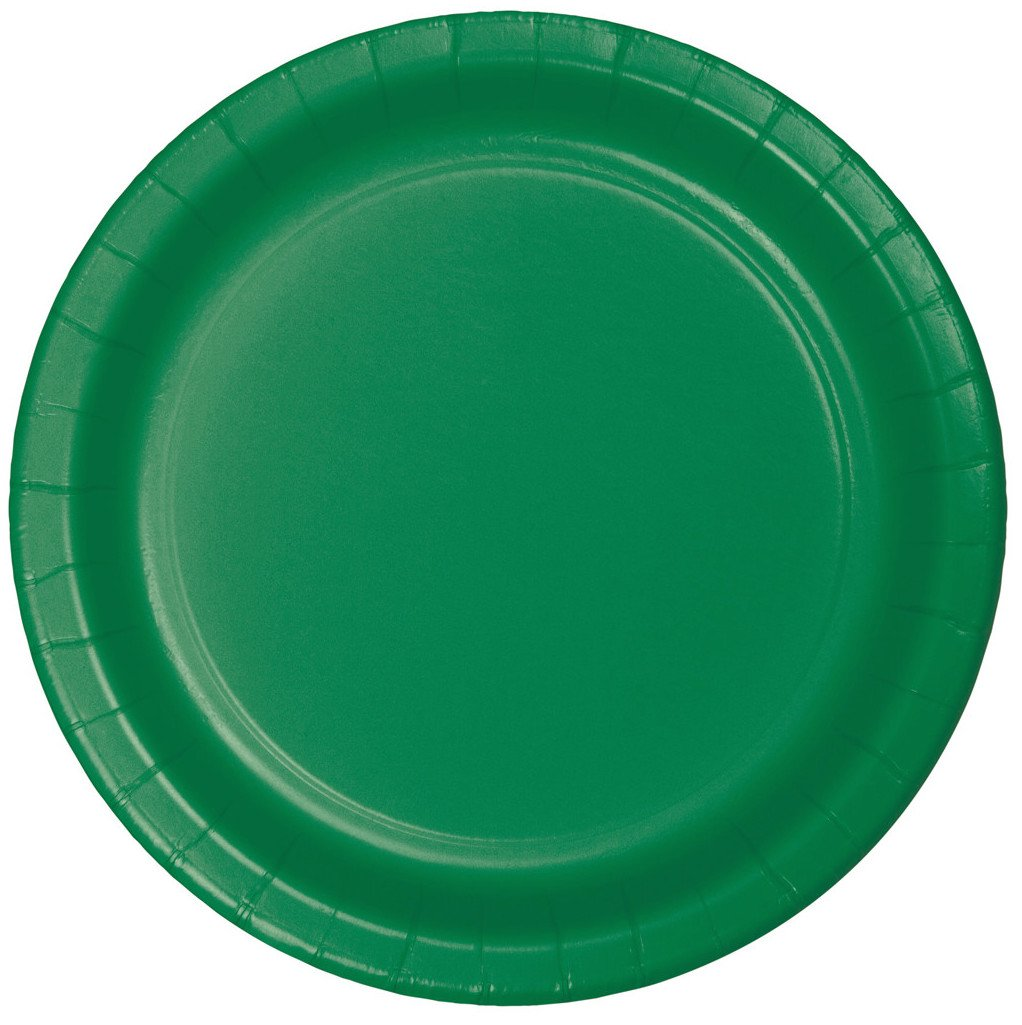 Creative Converting Celebrations 96 Count Lunch Plates, 7'', Emerald Green