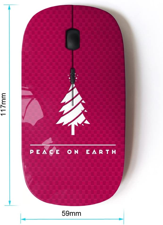 KOOLmouse Bible Verse Peace ON Earth Optical 2.4G Wireless Computer Mouse