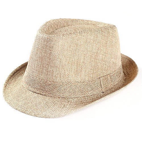 (2019 New Small Top Hat Unisex Popular Exquisite Glamorous Durable Beach Sun Straw Breathable Shade Visor Sun Hat by Fulijie Beige)