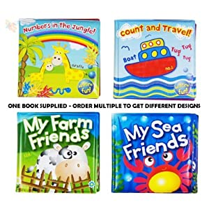 Soft Baby Bath Book Assorted