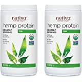 Nutiva Hemp Protein Powder xHlGaA, Organic, (50% Protein), 2 Pack- 16 Ounce each