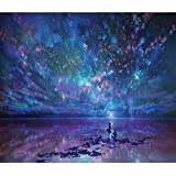 5D DIY Diamond Painting By Number Kits_Night sky(16X12inch/40X30CM)