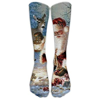 High Boots Crew Cute Santa Claus Compression Socks Comfortable Long Dress For Men Women
