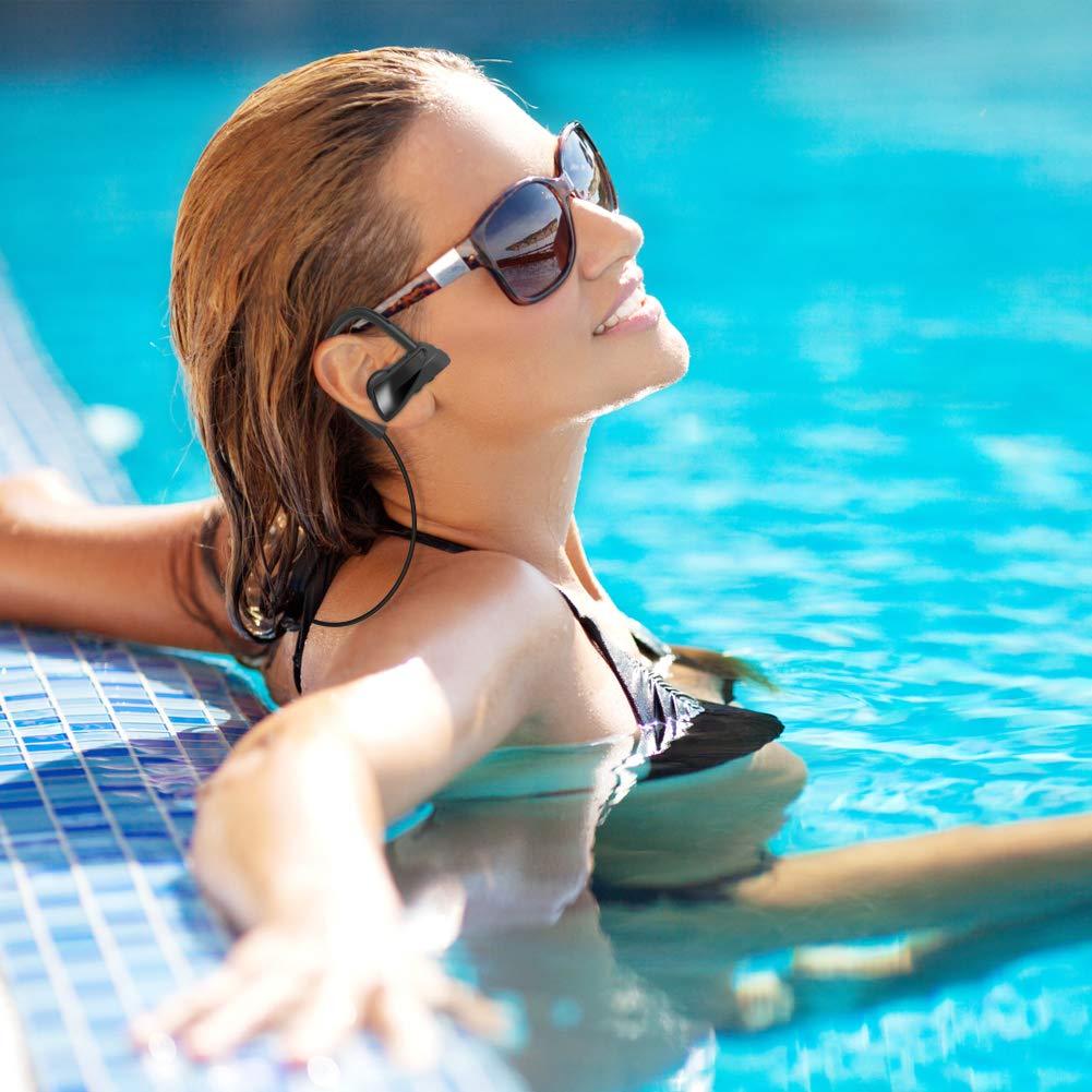 LEVREA Wireless Bluetooth Headphones Waterproof IPX7, Rechargeable HiFi Stereo Earbud Earphones with Mic, Working More Than 6 Hours