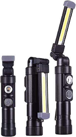 Coquimbo COB LED Inspection Lamp Torch Magnetic UK USB Rechargeable Work Light