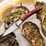 Oyster Knife by Archer with Gift Box - Premium Oyster Shucking Knife with Pakka Wood Handle, Full Tang Blade, Hand-guard plus FREE Oyster Guide ebook