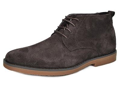 b166f743712 Bruno Marc Men s Chukka Dark Brown Suede Leather Chukka Desert Oxford Ankle  Boots - 8.5 M