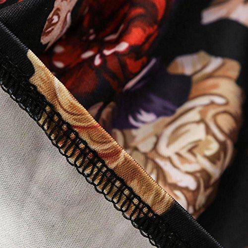 Elgant Plage Print Vintage XXL 1950's Dress Femme de Dcontracte de Boho S 44 Rtro Robe Audrey 36 5 Floral Cocktail Hepburn Couleur Imprim Robe Party Soire Soleil Swing Robe Maxi D Guesspower Noir qOx1fEO