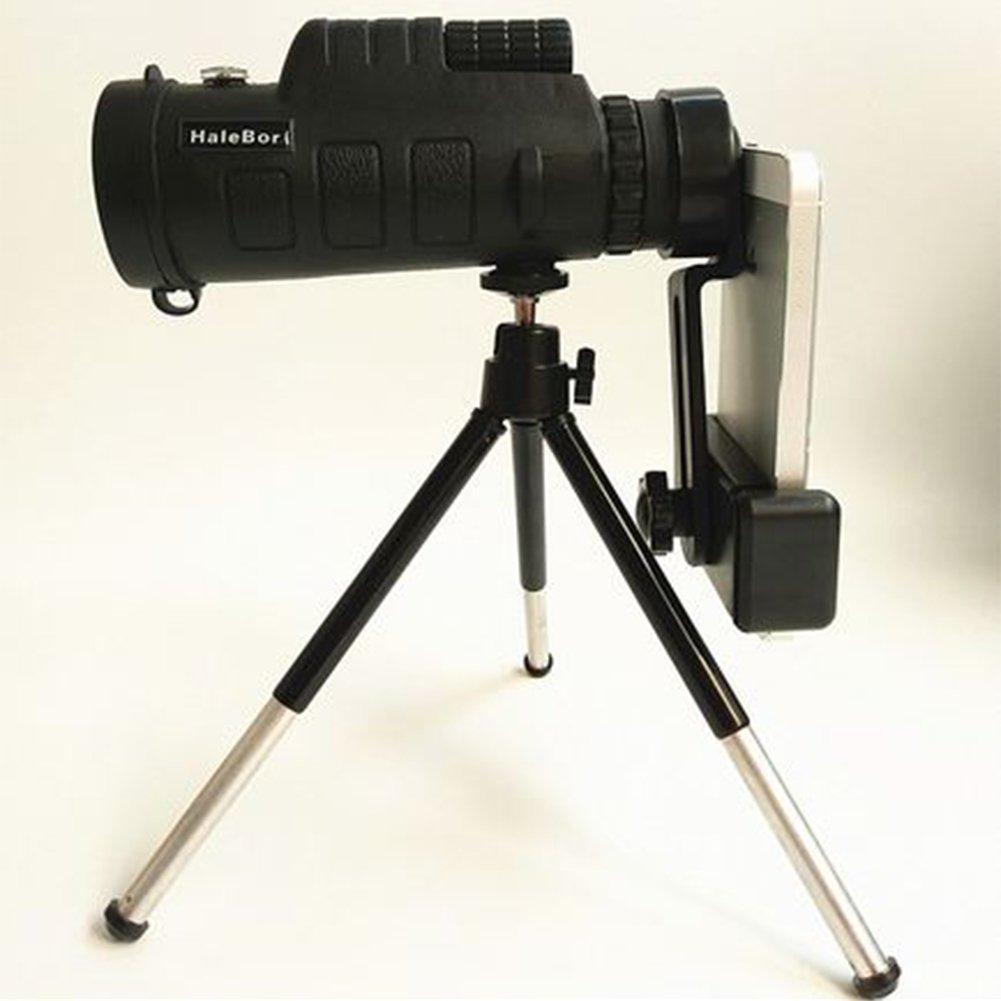 DAVEVY 30 x 50 Zoom Optical HD Lens Monocular Telescope+ Tripod+ Clip Universal Phone Camping Hiking Tourism Match Concert (35 x 50)
