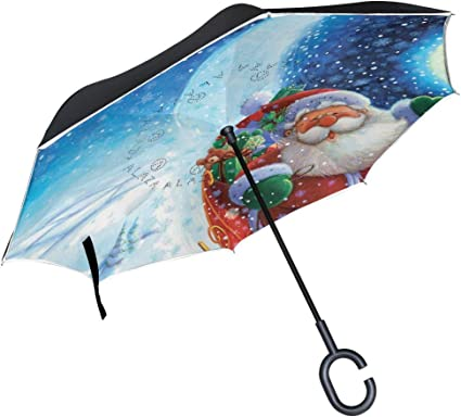 PYFXSALA Vintage Camera Pattern Windproof Inverted Umbrella Double Layer UV Protection Folding Reverse Umbrella for Car Rain Outdoor Self Stand Upside Down with C-Shaped Handle