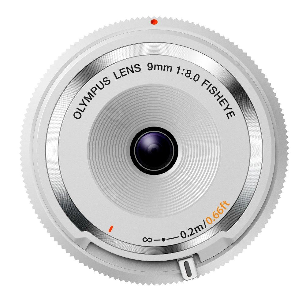 Olympus 9mm 1:8.0 Fish Eye Body Cap Lens - White by Olympus