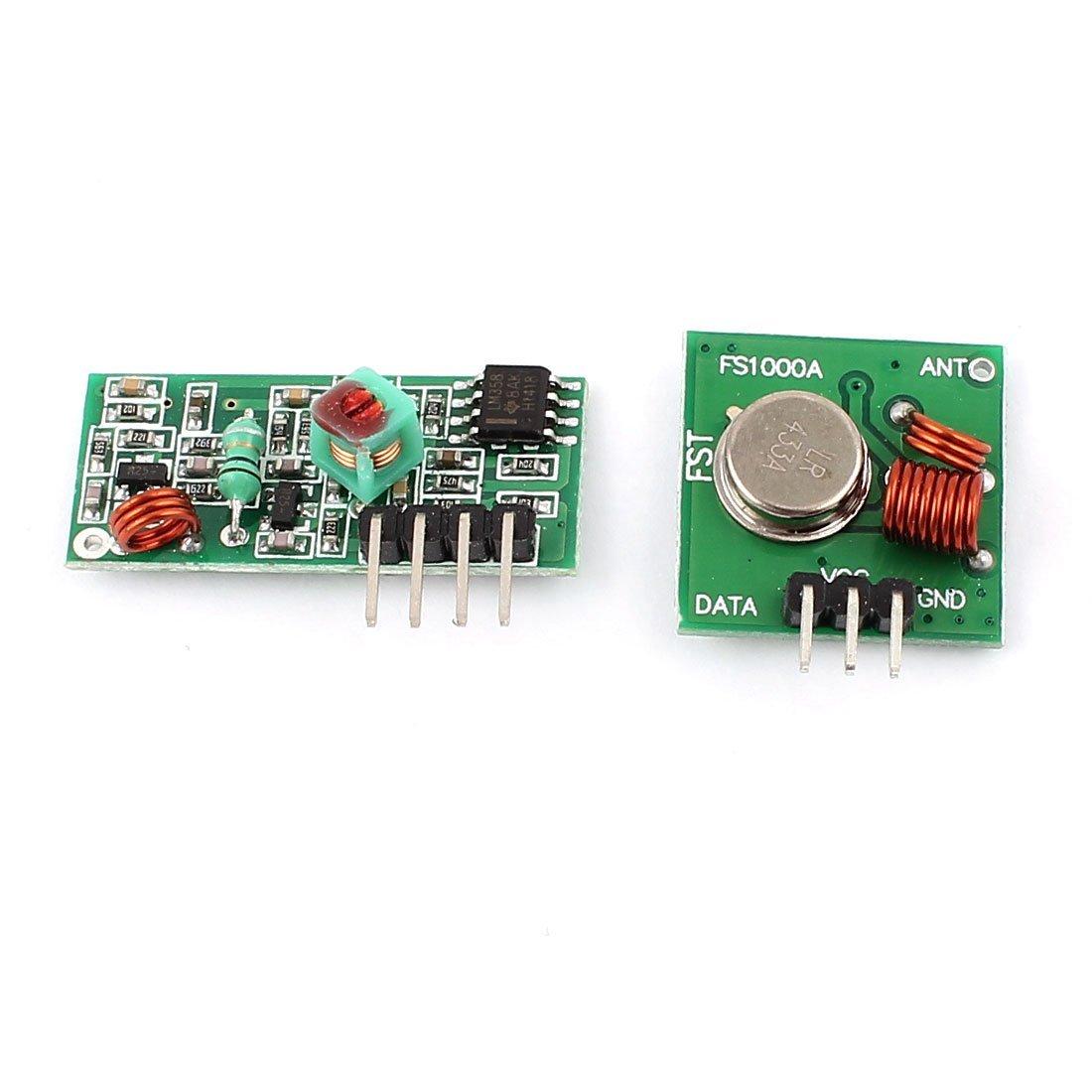 eDealMax a15042500ux0023 transmisor RF WL Con el Kit Módulo receptor Para ARM MCU inalámbrico, 433 MHz