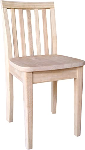 International Concepts Unfinished Juvenile Chair