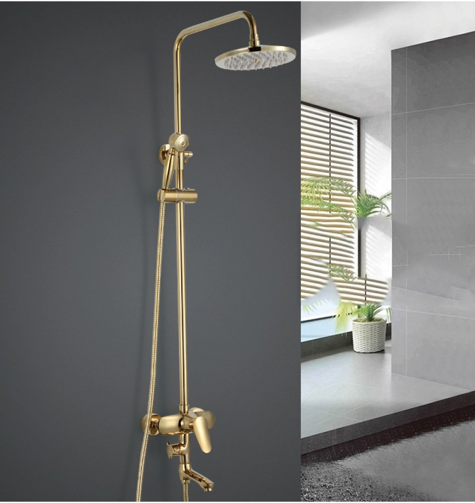 SMQ shower set Titanium gold Copper European Lift gold Toilet Hand Shower Shower Set