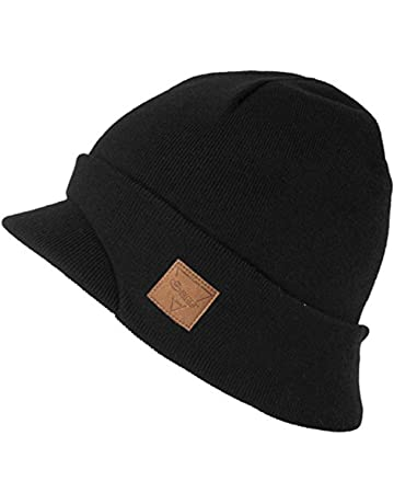fe979e70cf0a34 SIGGI Wool Knit Visor Beanie Jeep Hat Winter Hunting Skiing Unisex Warm