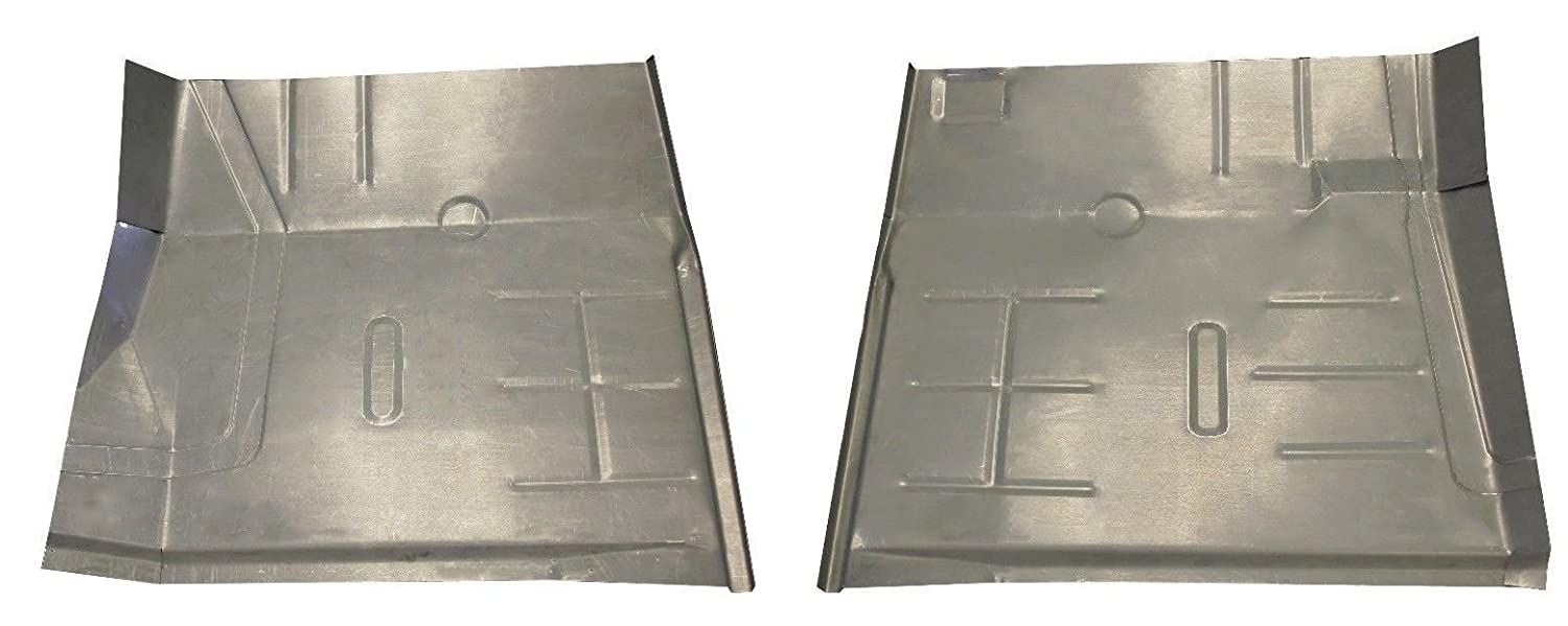 Motor City Sheet Metal - Works With 1972 1973-1993 Dodge Regular & Club Cab Truck & Ram Charger Floor Pans New Pair