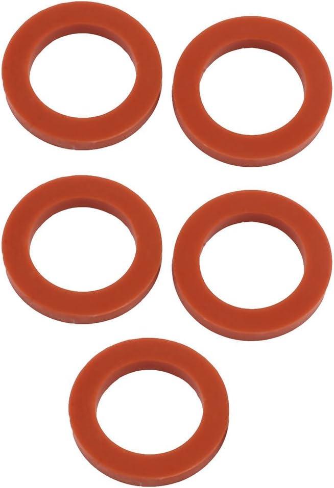 24mm x 16mm x 3mm Rot Silikon O Ring f/ür Rohrschlauch Dichtungsdichtung DE de sourcing map 5stk