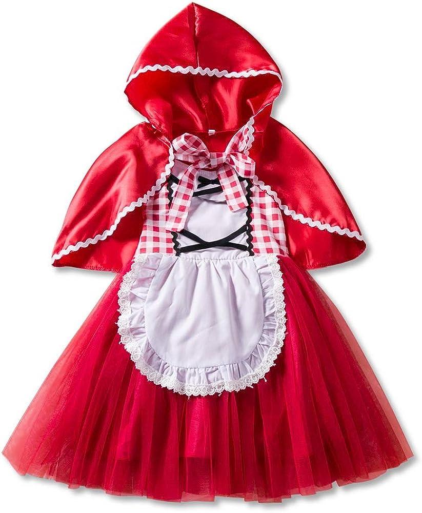 Odziezet Vestido Caperucita Roja Vestido + Capa 2PC Bebé Niña Tutu ...