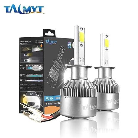 H1 LED COB Luces Delanteras del Coche Kit 3800LM 6000K Lámparas de luz Blanca Bombillas
