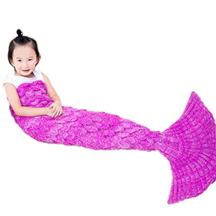 airdom mermaid tail blanket for kids toys little crochet mermaid blankets best birthday christmas gifts for