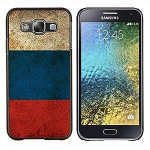 TECHCASE---Cubierta de la caja de protección para la piel dura ** Samsung Galaxy E5 E500 ** --Bandera de Rusia