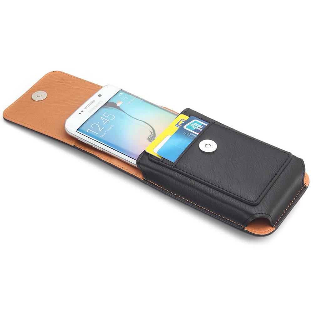 DAYNEW 5.1 de Hombre Funda de Piel Cintur/ón Bolso de Cintura Premium Funda Piel Mini Bolsa de Mensajero Hombro Bolsa para Samsung Galaxy S5 Neo//S6 Edge-Marr/ón