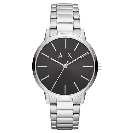 0879b8fb3501 Armani Exchange Reloj Analógico para Hombre de Cuarzo con Correa en Acero  Inoxidable AX2700  Amazon.es  Relojes