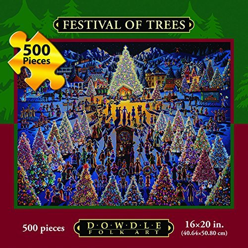 (Dowdle Folk Art Jigsaw Puzzle - Festival of Trees 500 Pc )