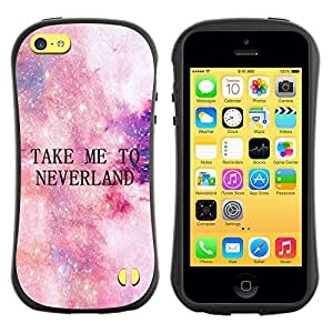 LASTONE PHONE CASE / Suave Silicona Caso Carcasa de Caucho Funda para Apple Iphone 5C / take me to neverland stars cosmos sky