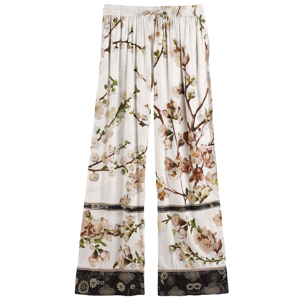 CATALOG CLASSICS Women's Blossom Lounge Pants - Elastic Waist Band Side Pockets