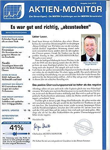 Aktien Monitor 6 2018 Fresenius Nestle Zeitschrift Magazin