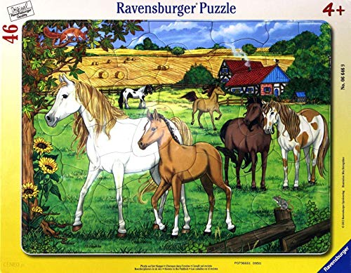 (Ravensburger Horses in The Paddock Frame Puzzle, 46-Piece)