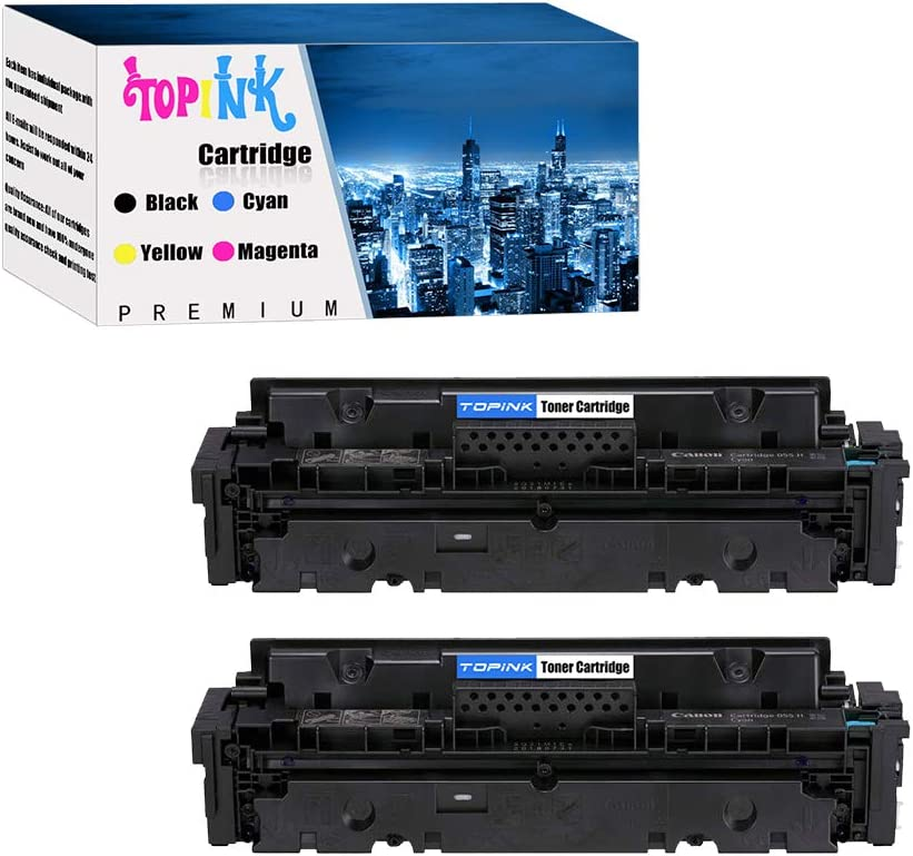 TopInk 3015C002 Replacement for Canon 3015C002 Printer Toner Cartridge High Yield-2 Cyan