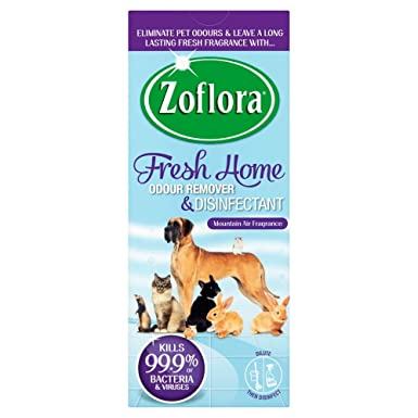 ZOFLORA Fresh Home 500ML Odour Remover and Disinfectant for Homes with Pets  Home Kennels x1