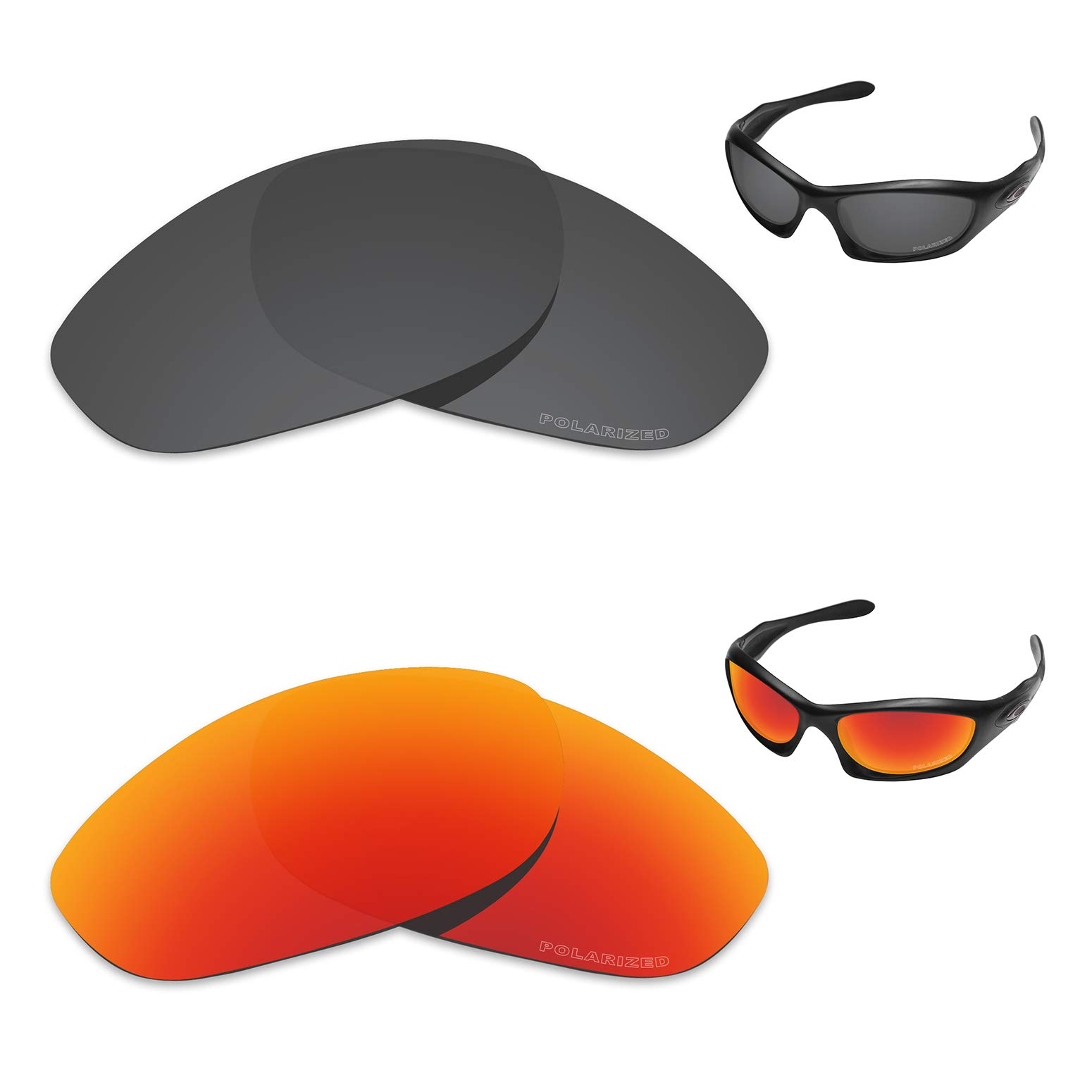 Tintart Performance Replacement Lenses for Oakley Monster Dog Polarized Etched - Value Pack by Tintart