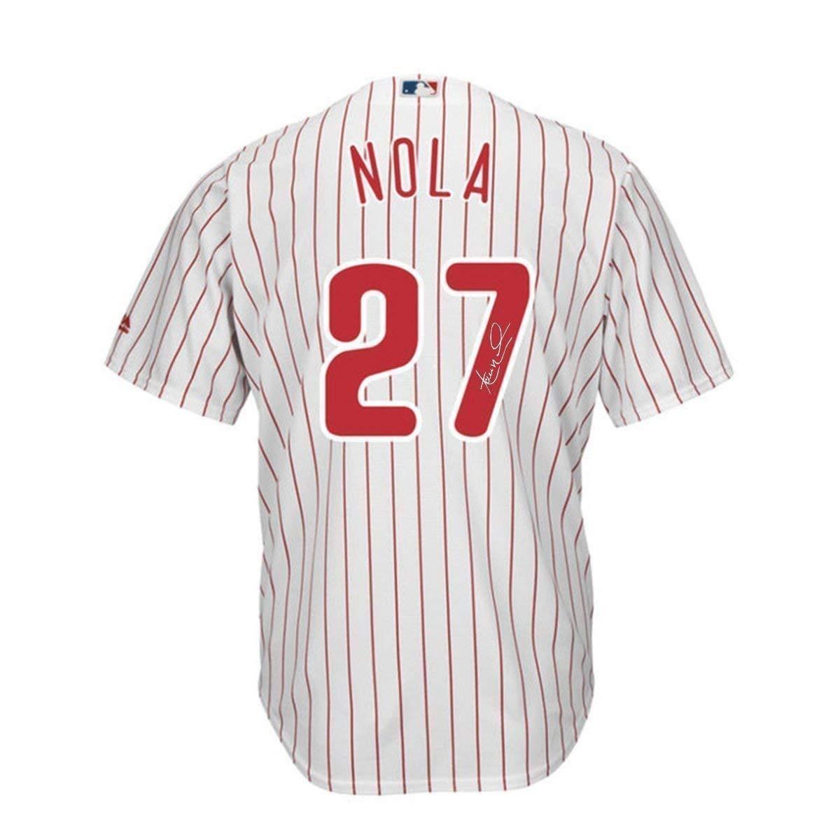 super popular f3551 4520e Aaron Nola Signed Philadelphia Phillies Home Replica Cool ...