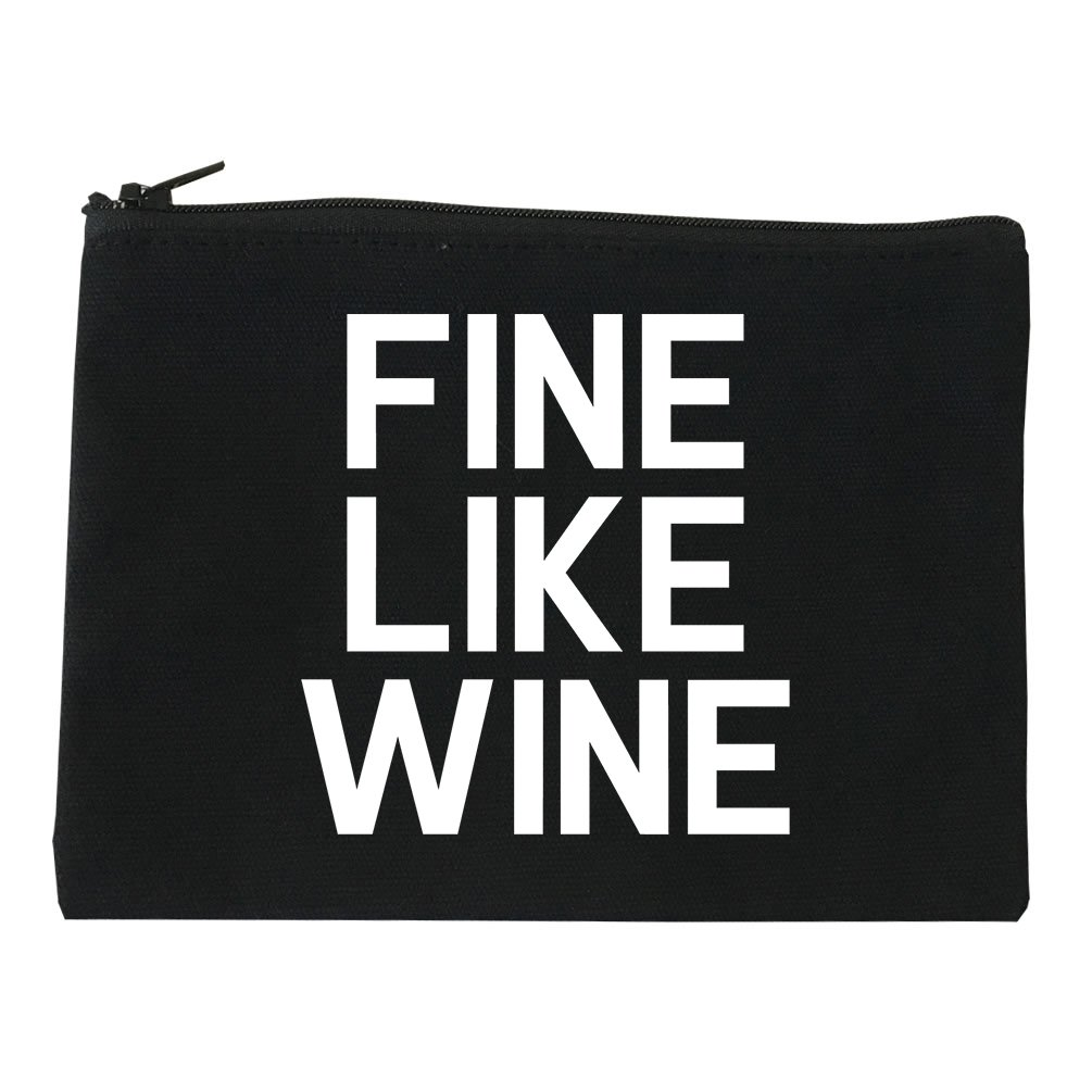 Fine Like Wine Cosmetic Makeup Bag Black Medium by FASHIONISGREAT (Image #1)