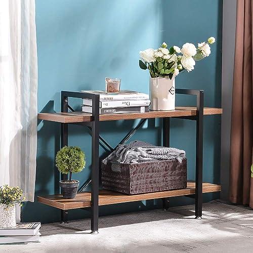 MORITIARustic Wood and Metal Bookshelves