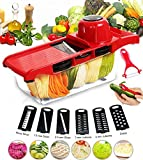 Adjustable Mandoline Slicer - Vegetable Slicer 6 Blades - Kpcxsm...