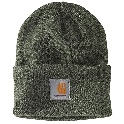 Carhartt Men's Acrylic Watch Hat A18, Olivine/Olive Marl, One Size