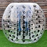 Costzon Bubble Soccer Ball, Dia 5' (1.5m) Human Hamster Ball, Inflatable Bumper Ball for Kids and Adults (Black Dot)