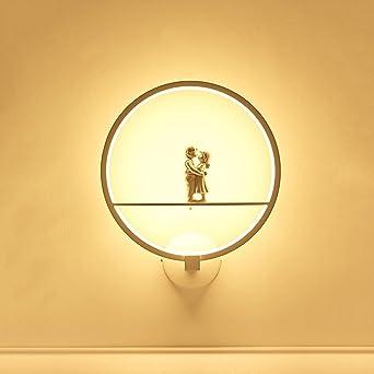Pointhx Moderne Minimalistische LED Wandleuchte Wandleuchte Romantische  Metall Wandleuchte Mit Harz Liebhaber Modell Innenwand Laterne Für