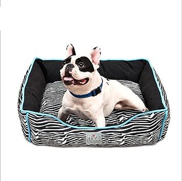 Bre Suministros de Mascotas Patrón de Cebra Perrera Lavable Pet Waterloo con cojín Reversible Cama para Mascotas Cómodo Alfombra para Mascotas 47 × 42 ...