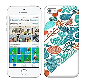 Best Power(Tm) HD Colorful Painted Watercolor Heart Birds Flowers Fish Hard Phone Case For Iphone 5/5S