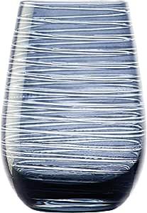 كاس زجاج مقوى لون ازرق 6 حبة في الصندوق صنع في المانيا