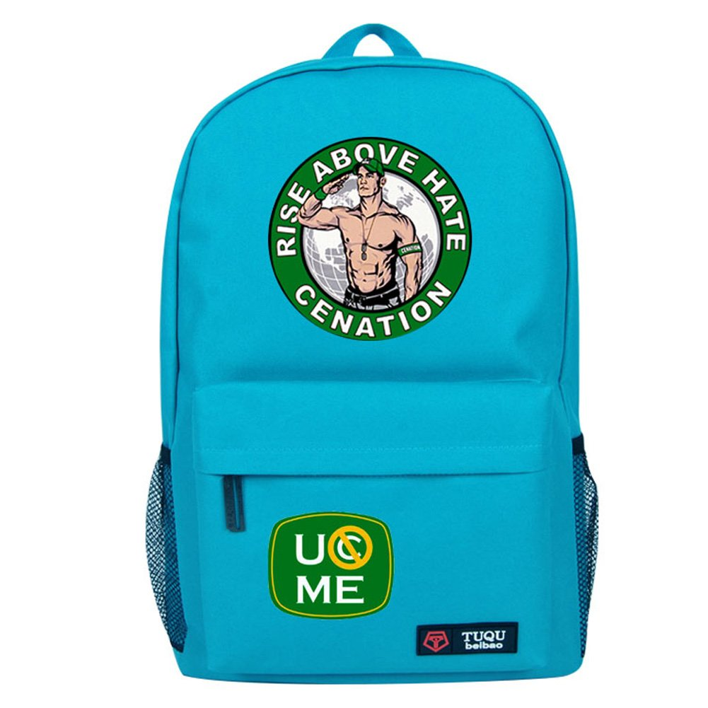 YOURNELO Cool WWE World Wrestling Federation Backpack Canvas School Bag Bookbag (B Skyblue) by YOURNELO