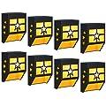 DBF Outdoor Solar Fence Lights, Waterproof Solar Deck Lights Wall Mount LED Decorative Lighting Auto On/Off Solar Patio Lights