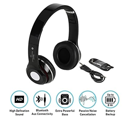 711b1604878 Image Unavailable. Image not available for. Colour: Quastro S460 Foldable  On-Ear Wireless Stereo Bluetooth Headphones Supports ...