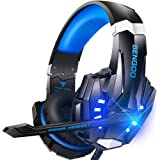 BENGOO G9000 Stereo Gaming Headset for PS4 PC Xbox One PS5 Controller, Noise Cancelling Over Ear Headphones with Mic, LED Lig